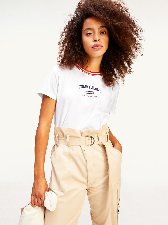 Contrast Collar Logo T-Shirt