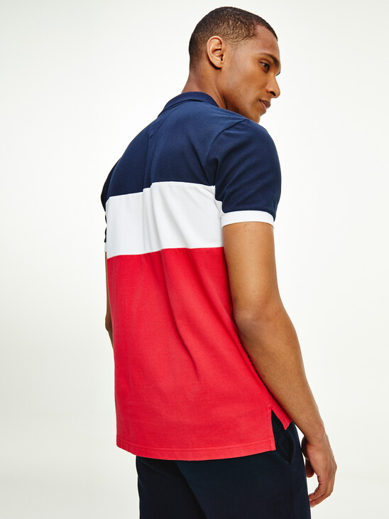 Colour-Blocked Regular Fit Polo