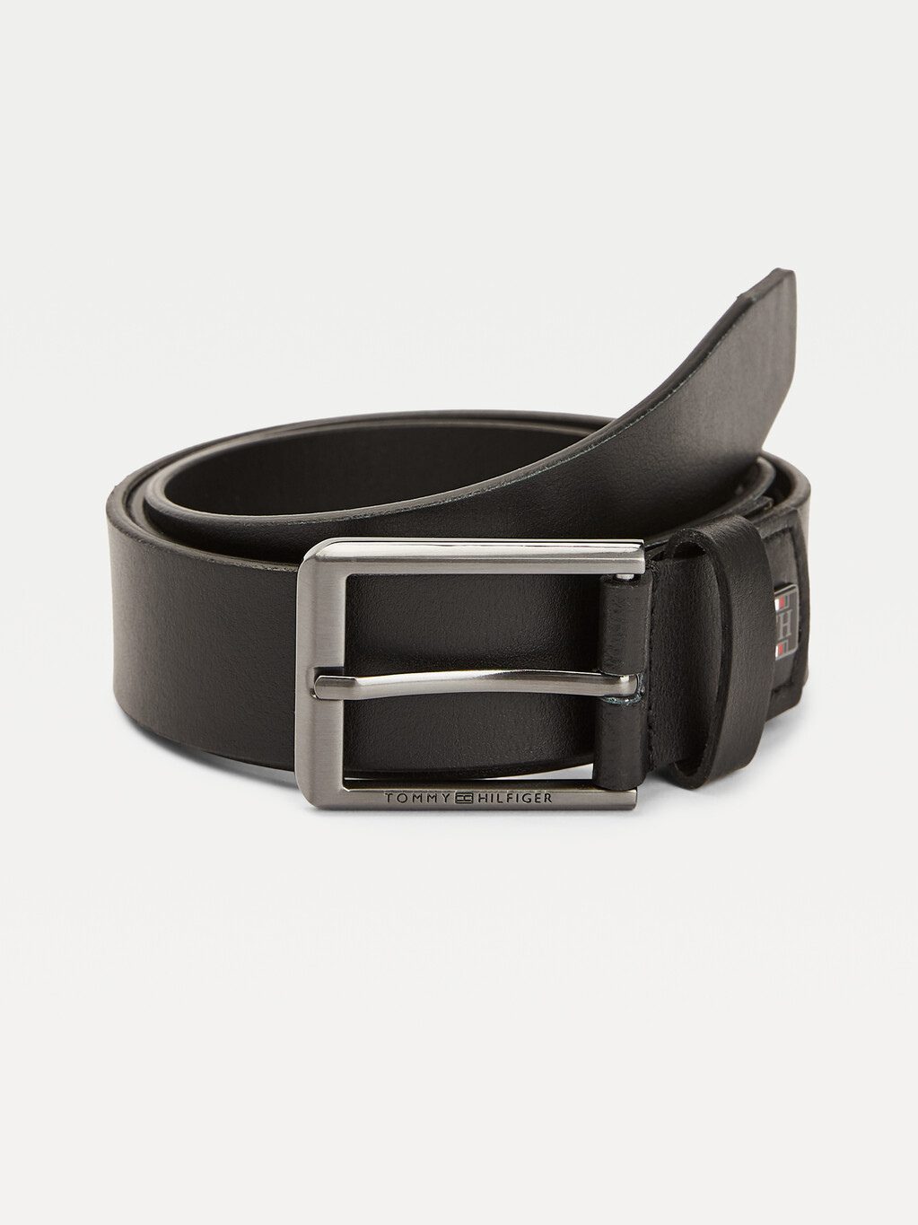 Tommy Icons Engraved Logo Leather Belt