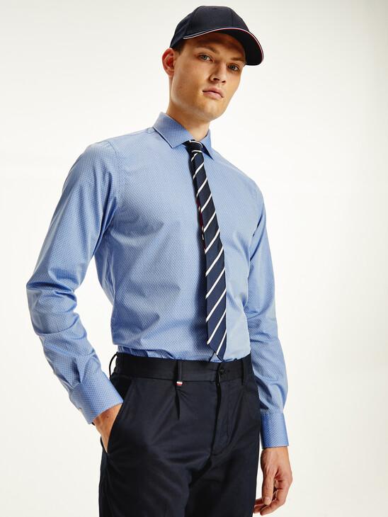Fine Stripe Cotton Shirt