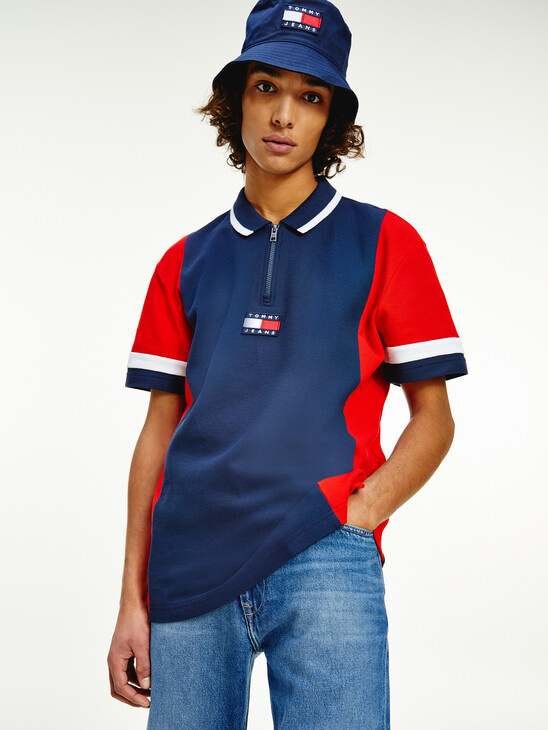 Tommy Badge Colour-Blocked Relaxed Fit Polo