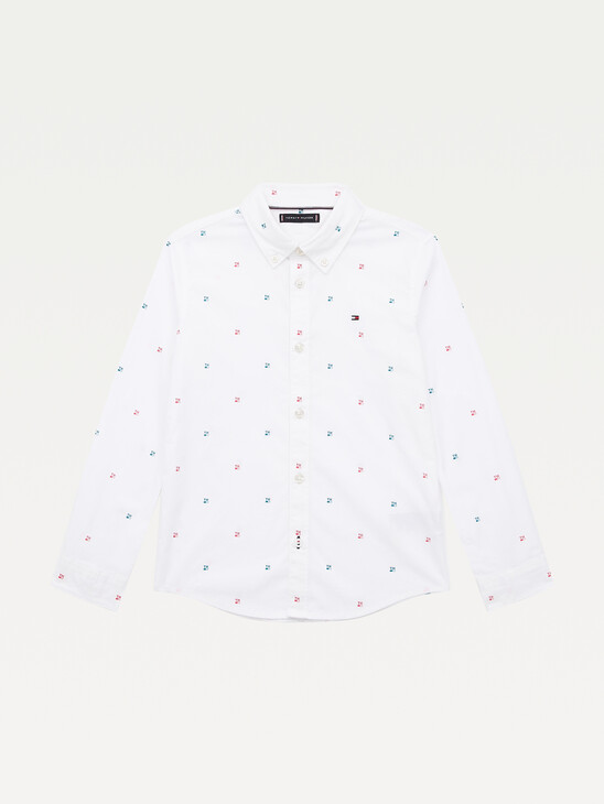 Stretch Organic Cotton Print Shirt