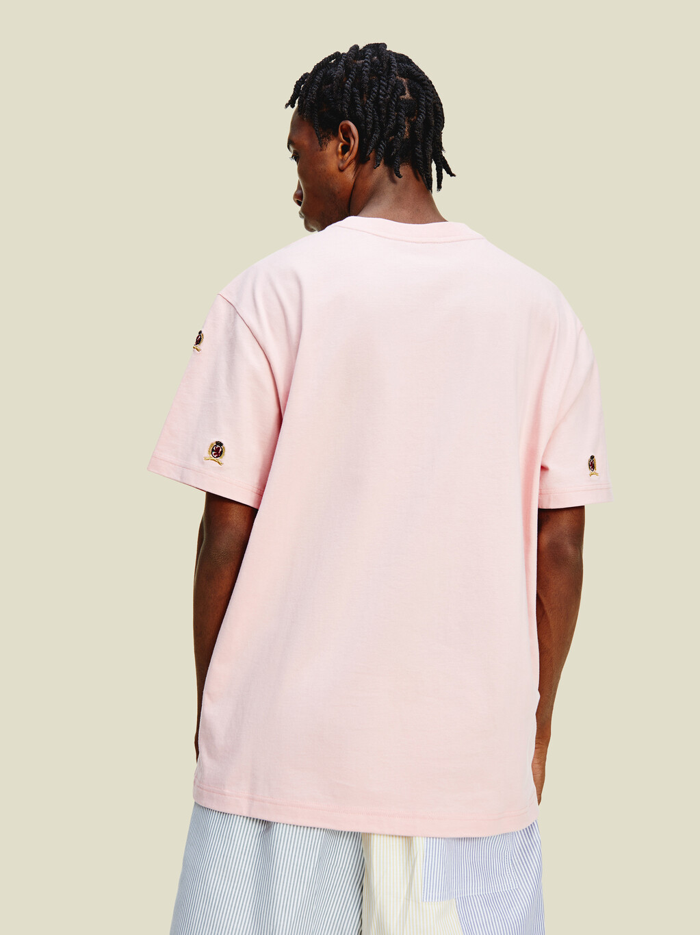 Organic Cotton Crest Embroidery T-Shirt