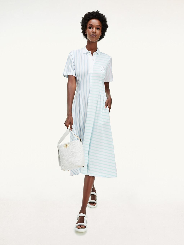 Tommy Icons Stripe Midi Polo Dress