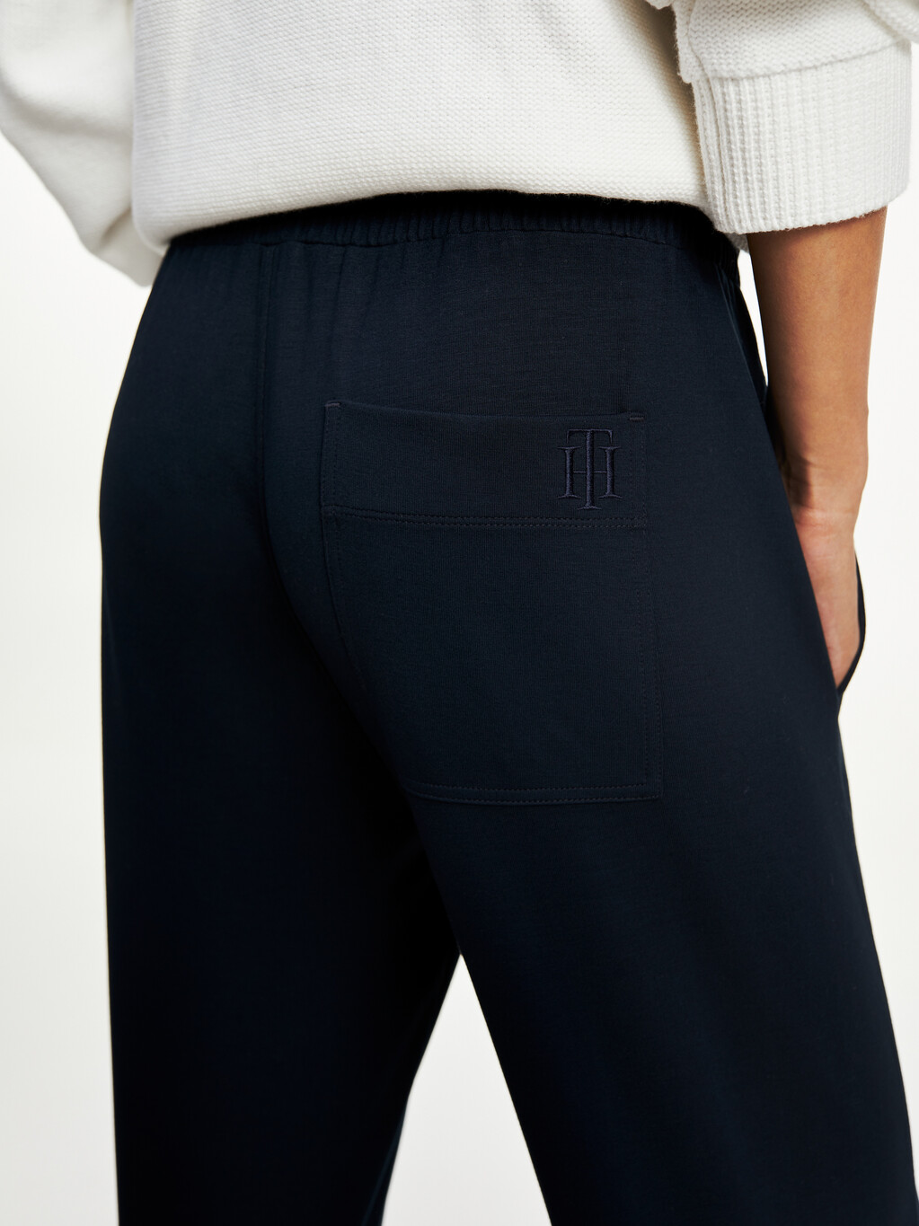 Relaxed Drawstring Monogram Trousers