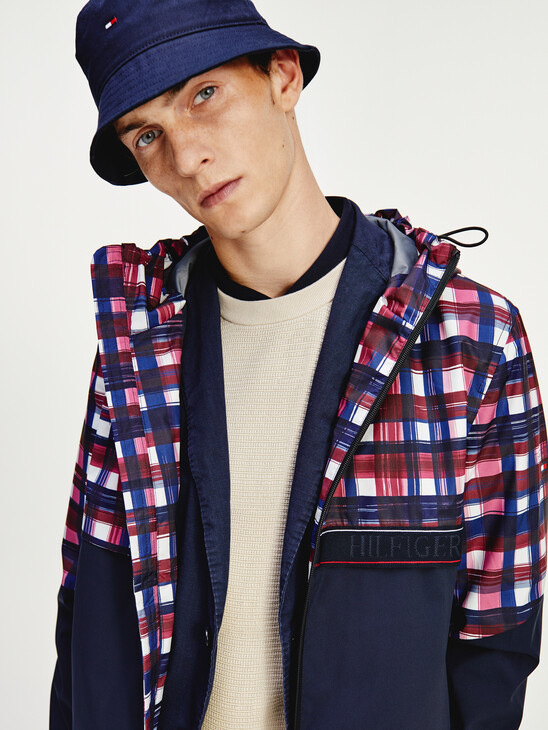 TH Tech Check Hooded Jacket