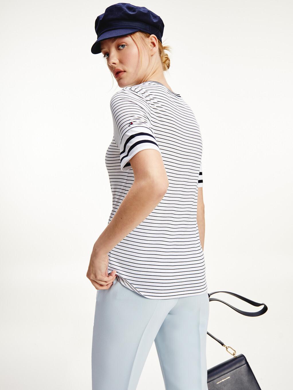 Mixed Stripe Crew Neck T-Shirt