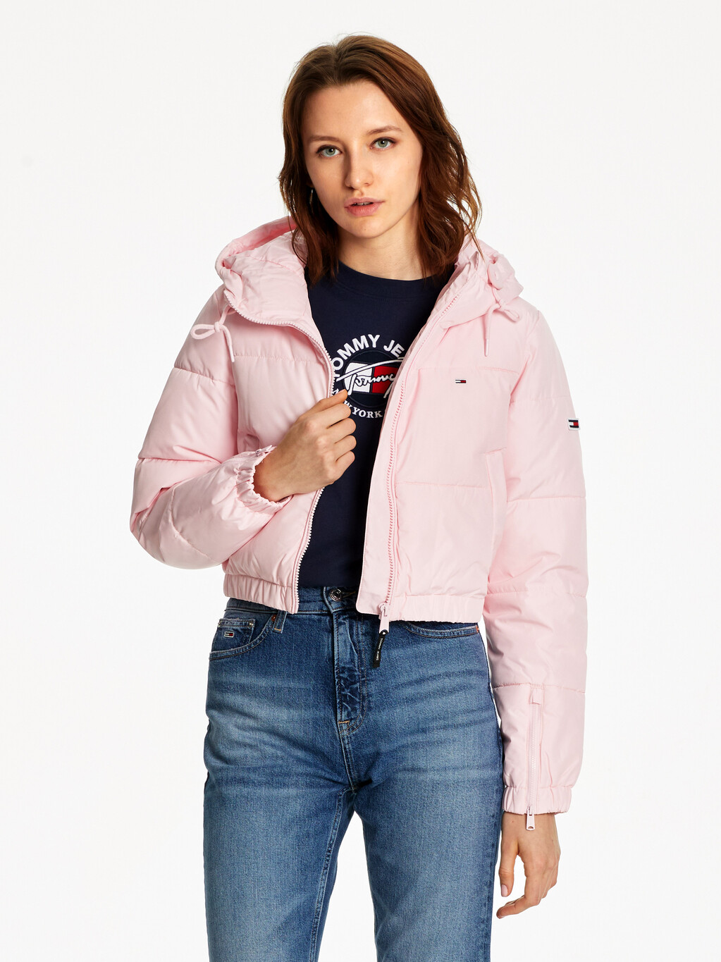 Cropped Down Puffer Jacket