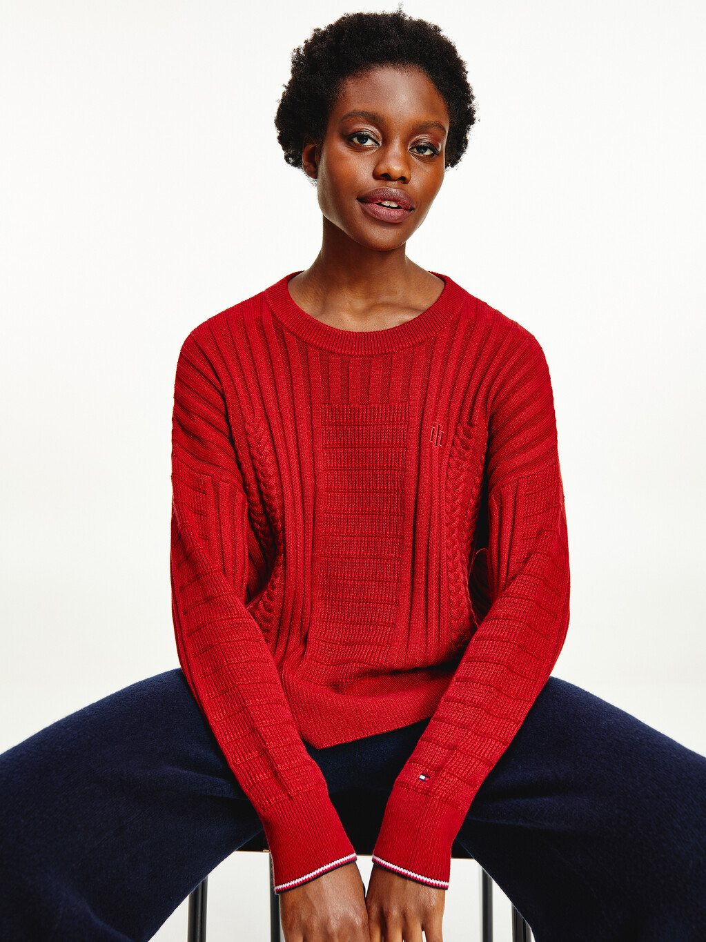 Mixed Cable Knit Jumper
