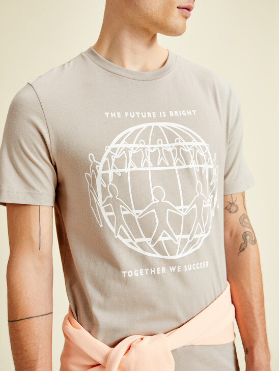Earth Day Graphic Print T-Shirt