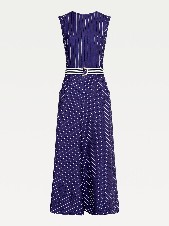 Pinstripe Sleeveless Dress
