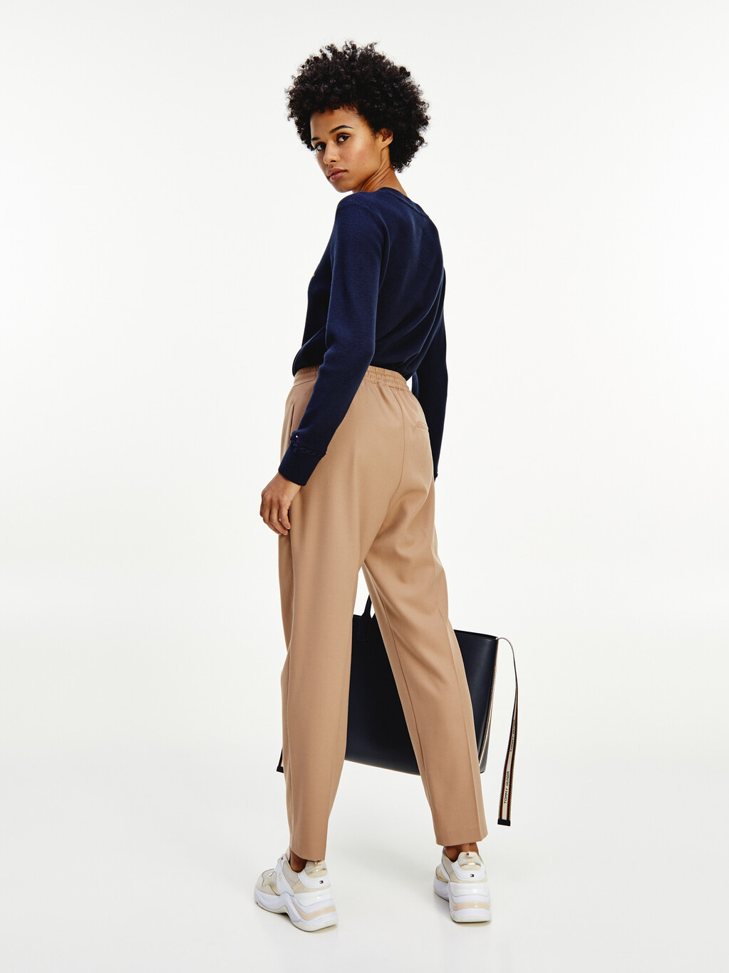 Flannel Straight Trousers
