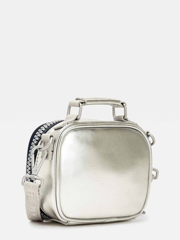 Metallic Zipped Nano Bag