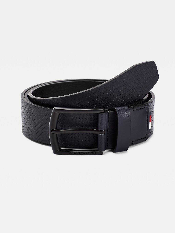 Micro Dot Leather Belt