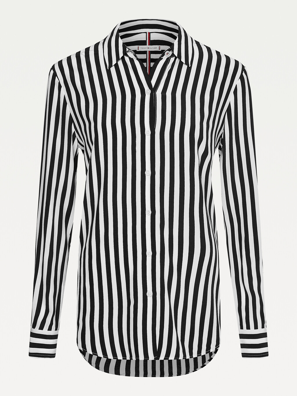 Geometric Print Viscose Shirt