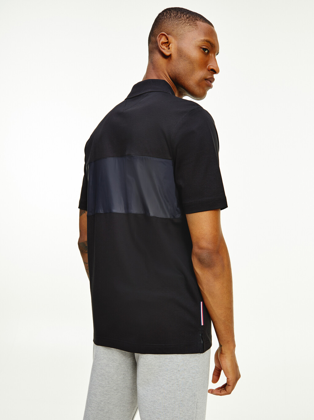 TH Signature Contrast Panel Relaxed Polo