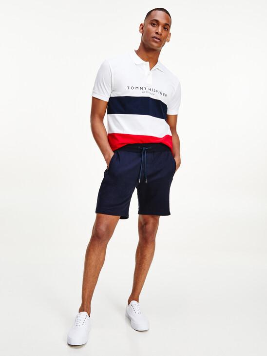 Pique Panel Sweat Shorts