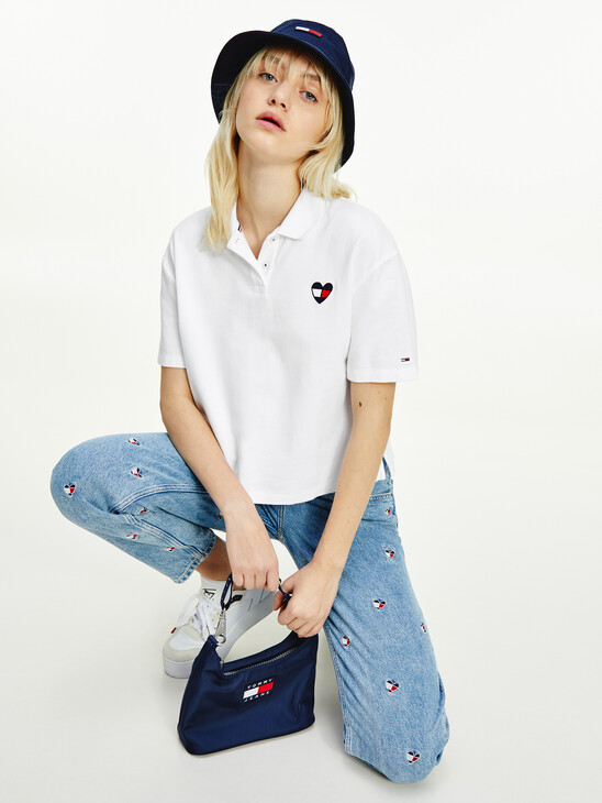 Jacquard Cropped Fit Polo