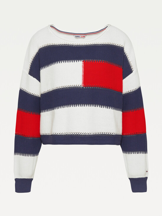 ORGANIC COTTON TOMMY FLAG PULLOVER