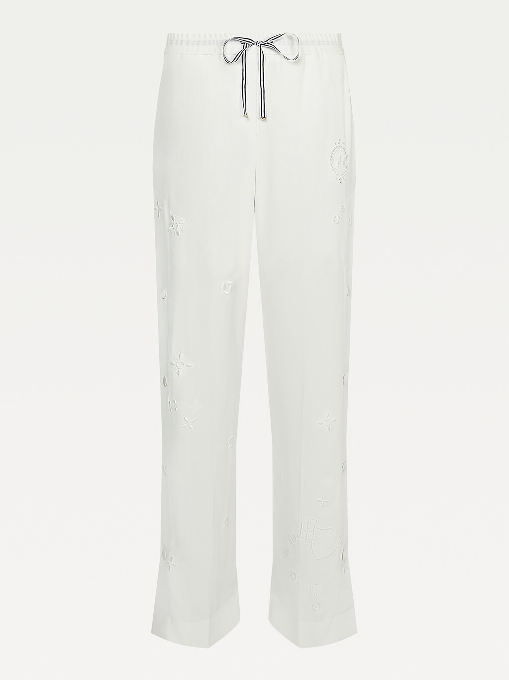 Tommy Icons Embroidery Wide Leg Trousers