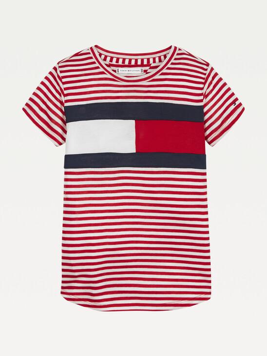 Stripe Knit Flag T-Shirt