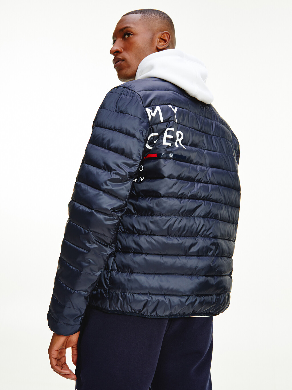 Recycled Packable Faux Down Padded Jacket