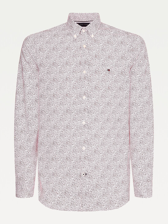 Micro Floral Print Slim Fit Shirt