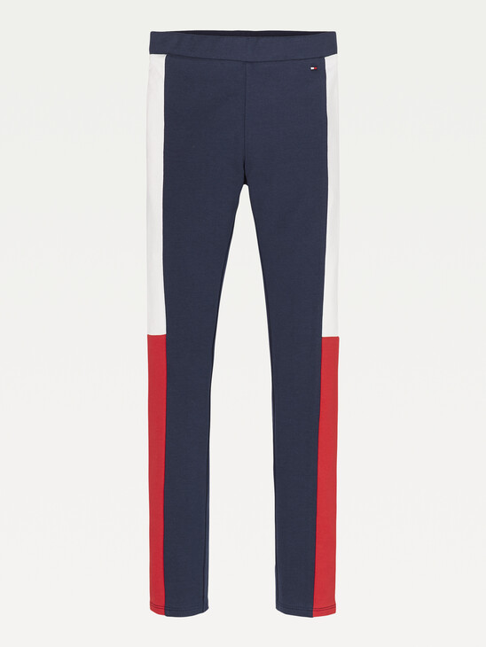 Colour-Blocked Full Length Leggings