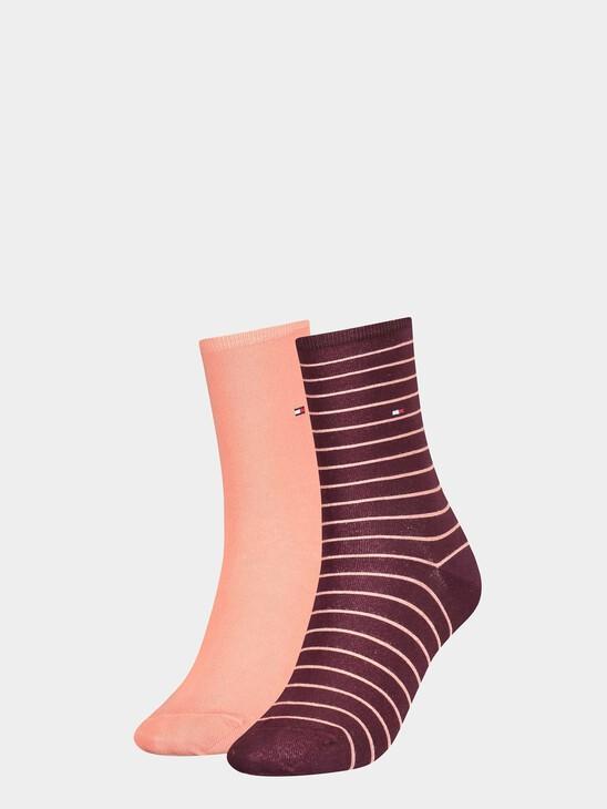 2-Pack Stripe Crew Socks