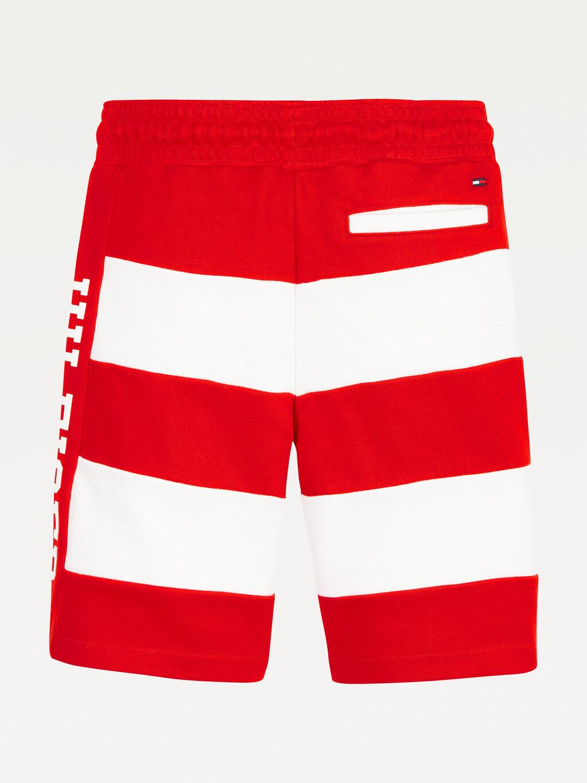 Stripe Drawstring Shorts