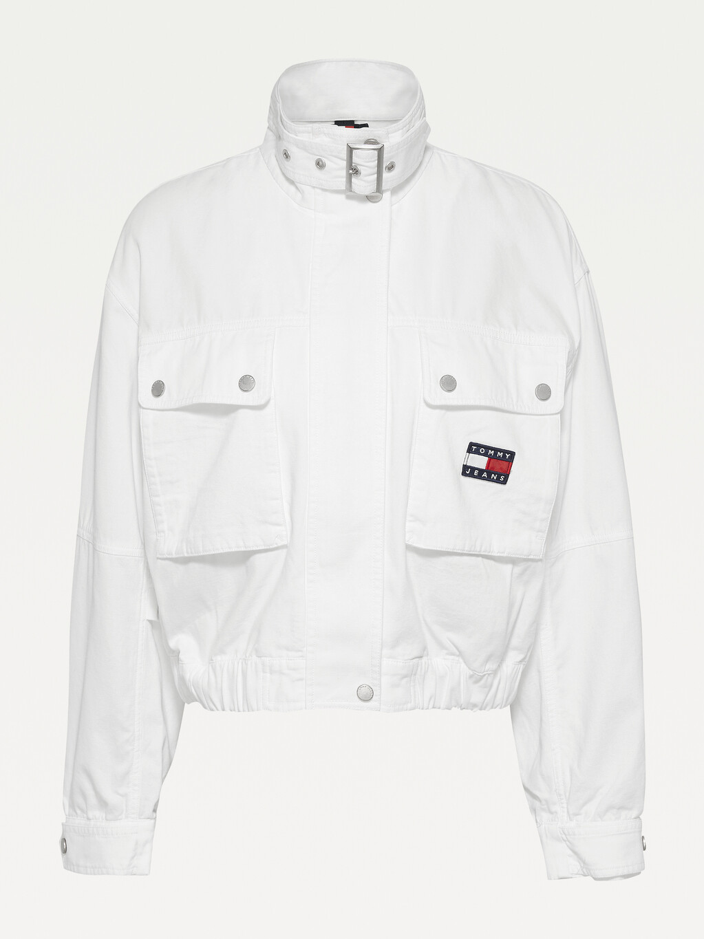 Tommy Badge Canvas Cropped Utility Jacket