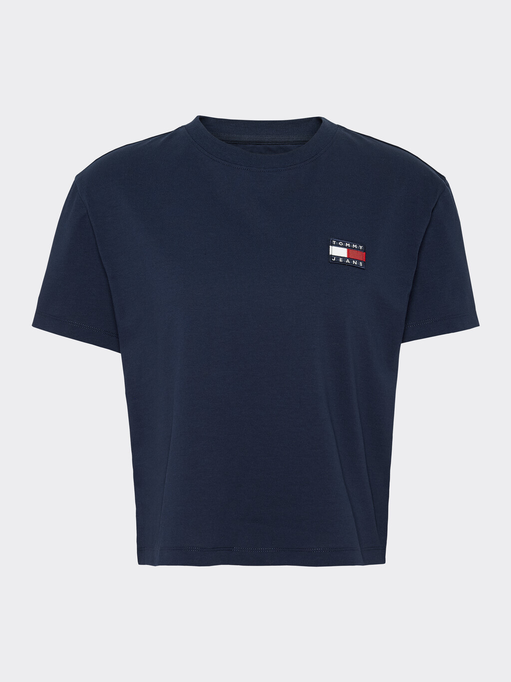 Tommy Badge Recycled Cropped T-Shirt