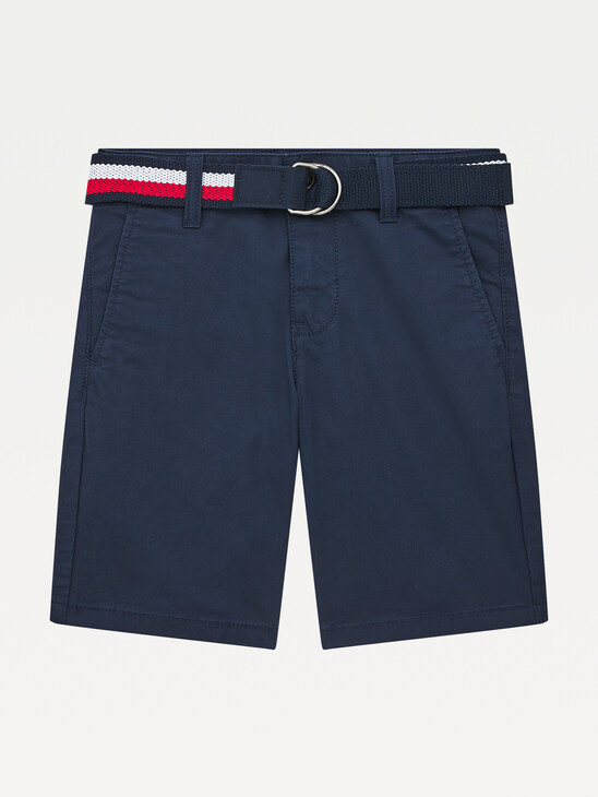 Essential Belted Slim Chino Shorts