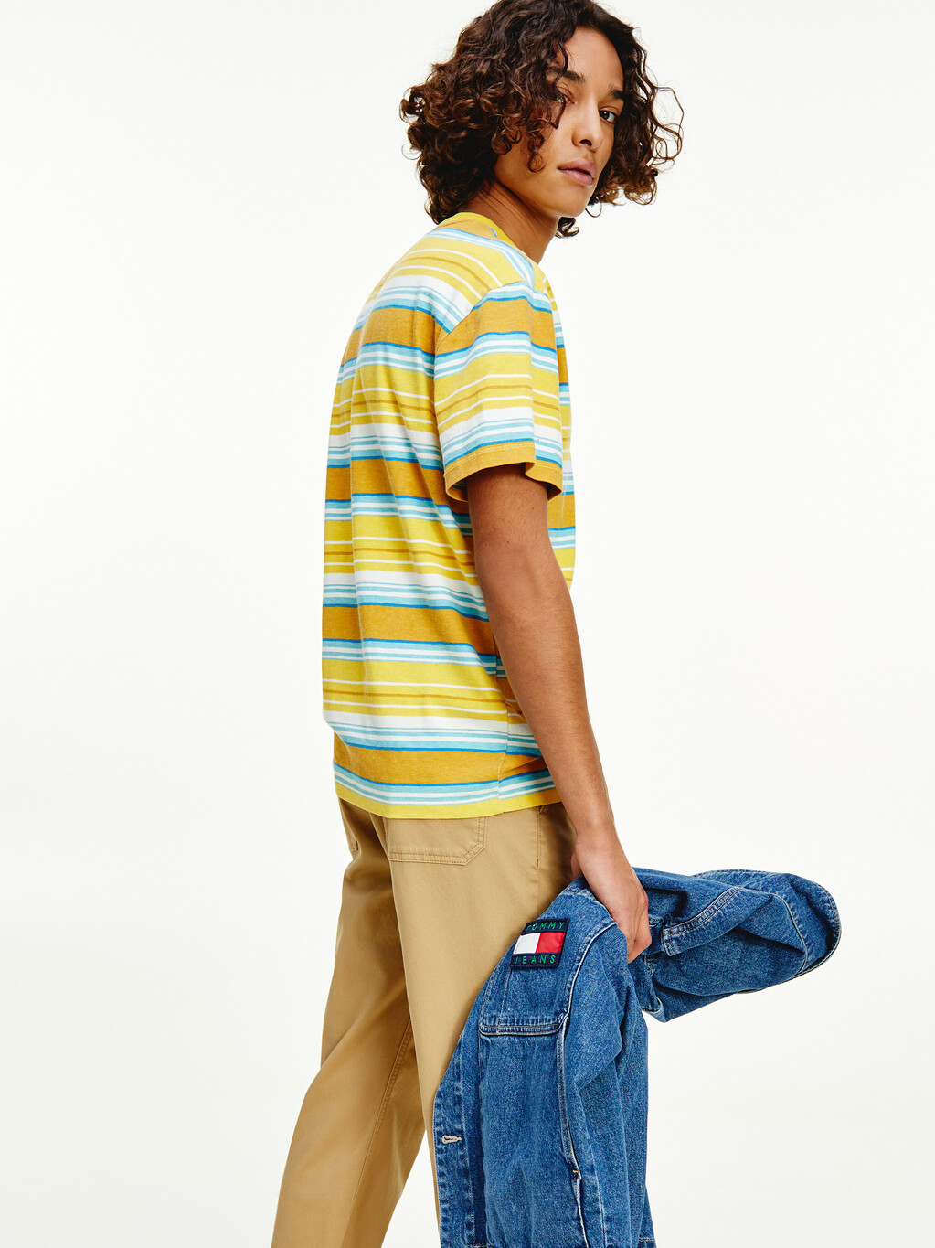 Mixed Stripe Relaxed Fit T-Shirt