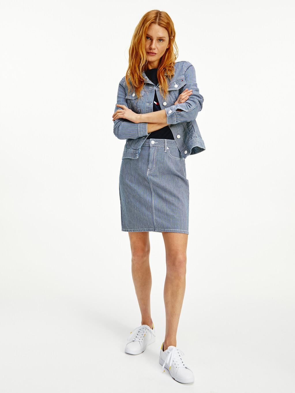 Rome High Rise Slim Stripe Skirt