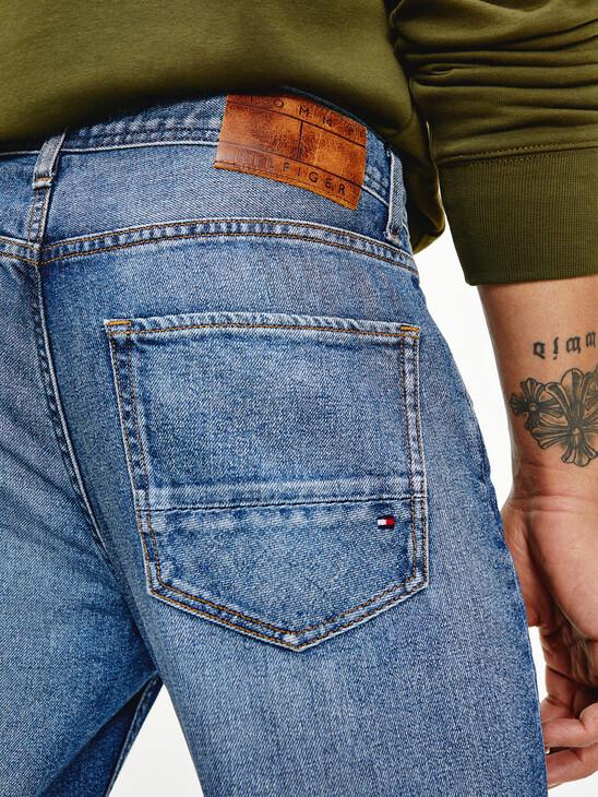 Denton Straight Faded Leg Jeans