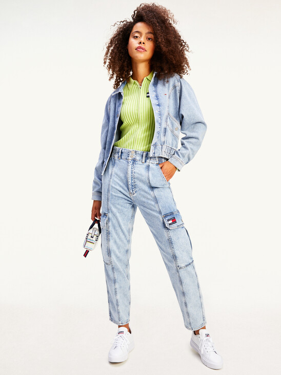 Tommy Badge Relaxed Cargo Jeans