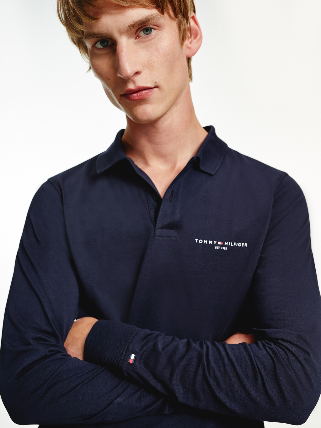 Slim Fit Long Sleeve Polo
