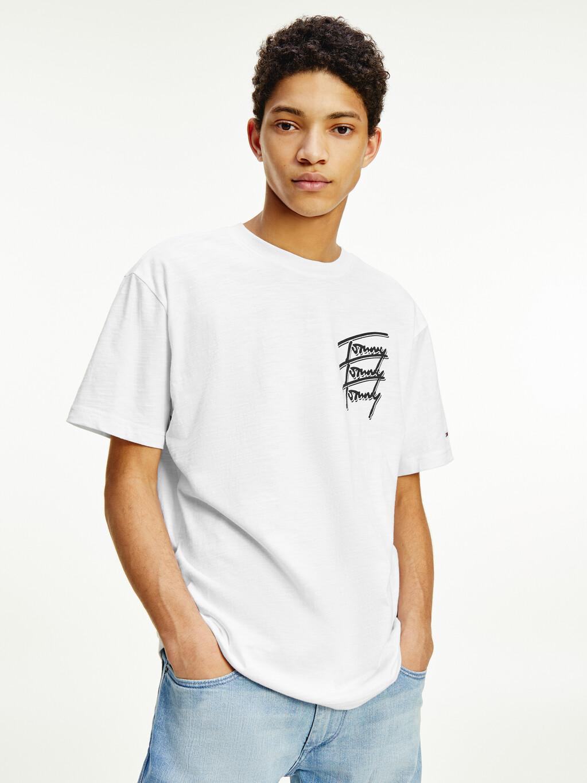 Repeat Script Logo Organic Cotton T-Shirt