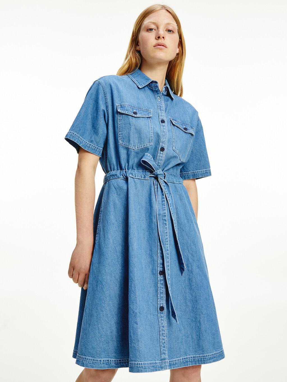 Belted Denim Shirt Dress