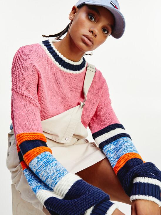 Colour-Blocked Organic Cotton Jumper