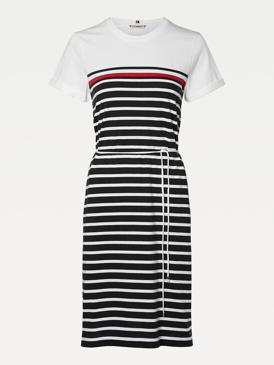 Stripe Crew Neck T-Shirt Dress