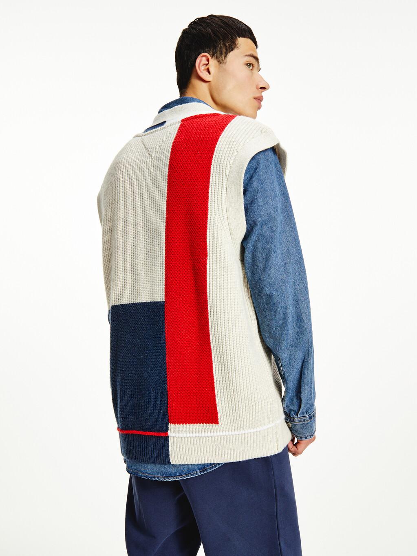 Colour-Blocked V-Neck Vest