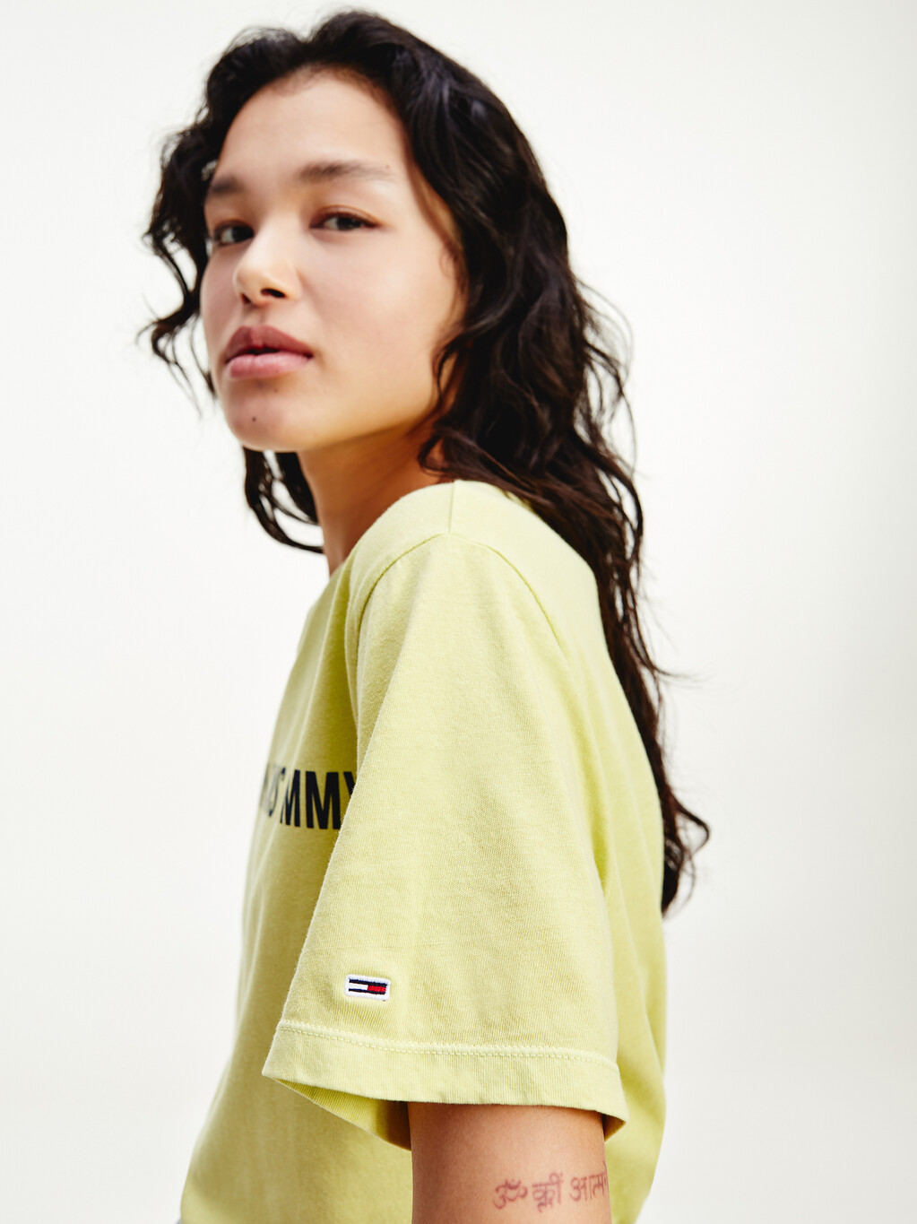 Repeat Logo Tape Cropped Fit T-Shirt