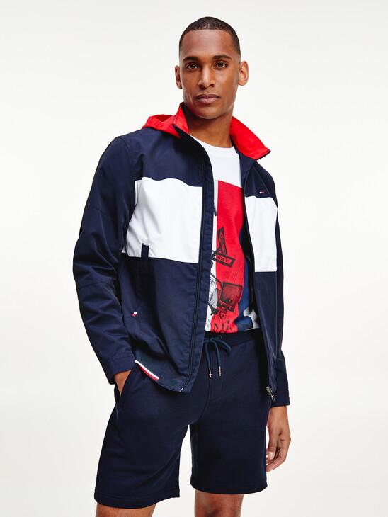 Color Block Sail Bomber Jacket
