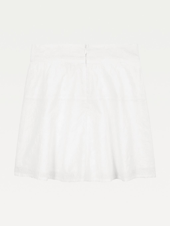 Organic Cotton Broderie Anglaise Skirt