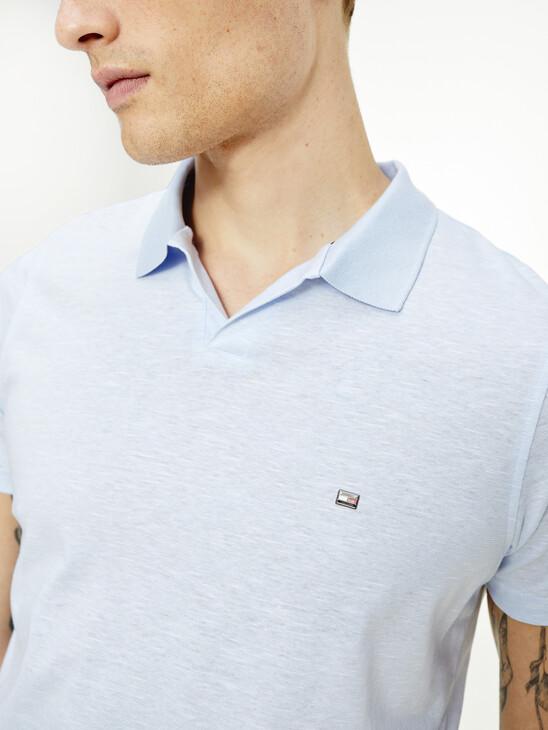 No-Button Placket Slim Fit Polo