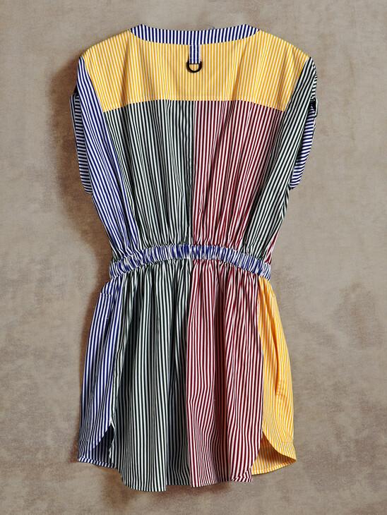 TOMMY X TIMBERLAND STRIPE SHIRT DRESS