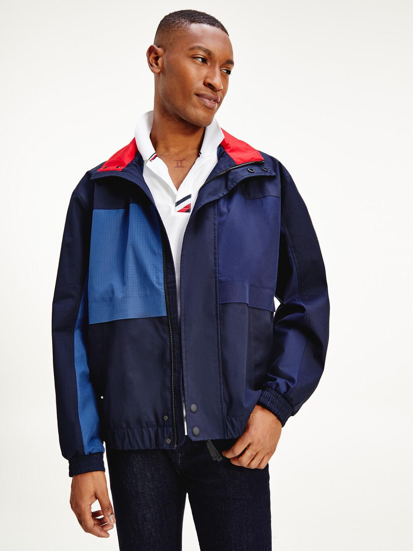 Tommy Icons Colour-Blocked Bomber Jacket