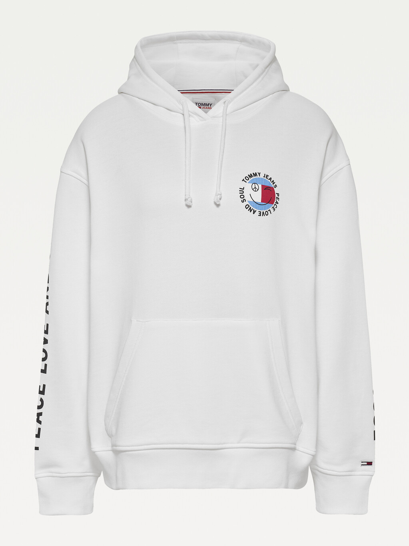 Oversized Peace Logo Hoody